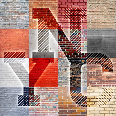 NYC Wall patchwork by Delicieuse Vie
