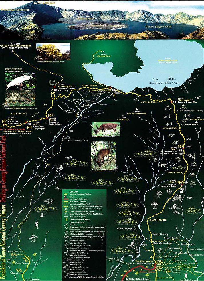 Map Rinjani Trekking - Delicieuse Vie