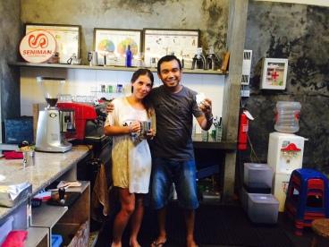 Séminal coffee studio - Ubud Bali - Indonésie Workshop Coffee Latte