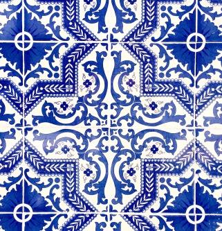 Azulejos Lisbonne - Bleu - by Délicieusevie