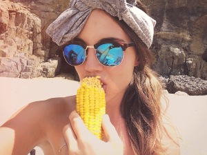 Allison at Praia Arrebenta Bois - Delicieuse Vie