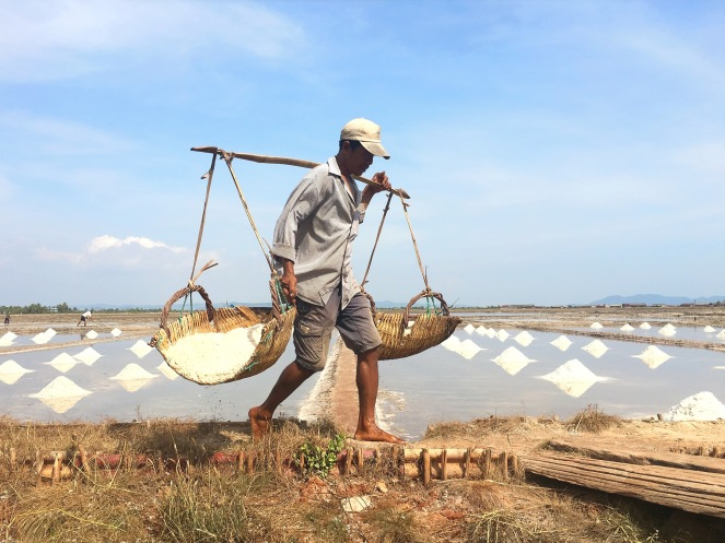 champs sel kampot farmer Délicieuse Vie