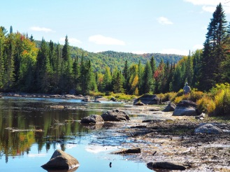 Panorama rivière Foret Ouareau Quebec Delicieuse vie
