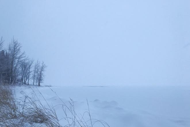 Lac enneigé panorama Parc Cap Saint Jacques Montreal ©delicieusevie