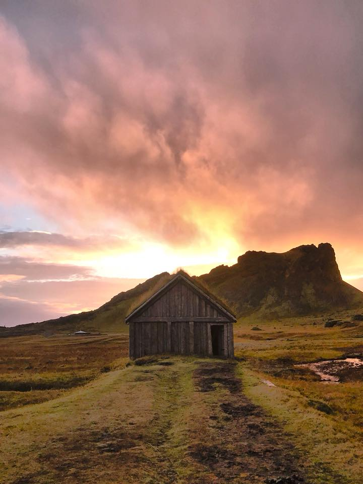 Hofn _ Viking village and sunset Iceland