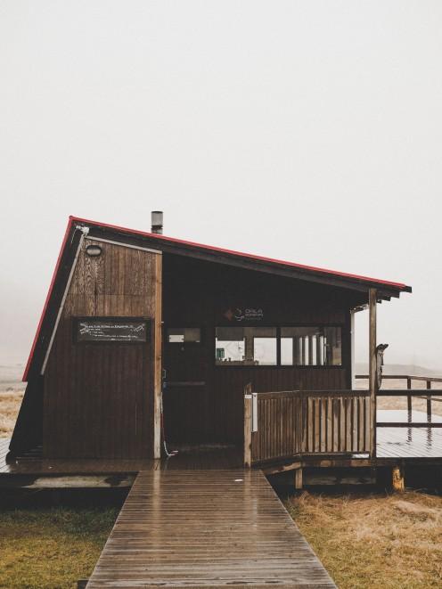 Café hot spring Iceland